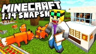 MINECRAFT 1.14 SNAPSHOT - Foxes and Animated Paintings