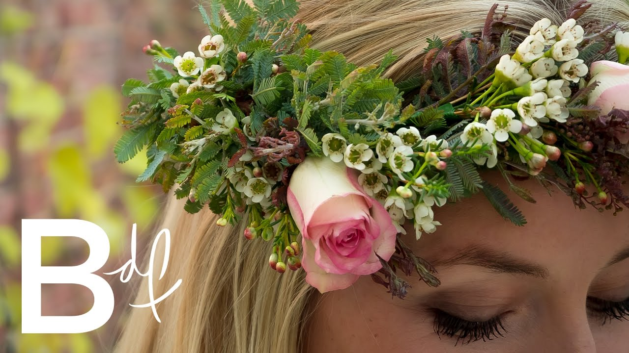 How To Make A Diy Flower Crown Youtube
