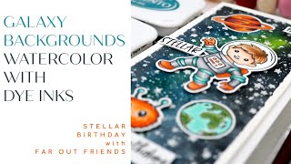 Galaxy Backgrounds | Stellar Birthday Handmade Card