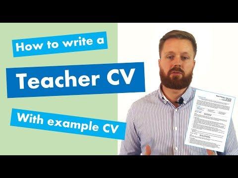 Writing A Teacher CV | Step-by-step Guide + Example CV