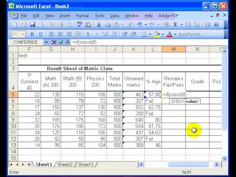 position calculate in excel