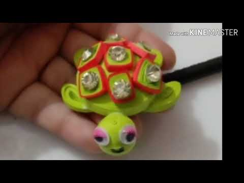 DIY quilling turtle, paper turtle,, how to make a quilling turtle,,