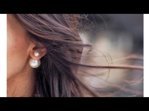 How To Make Double Sided Pearl Earrings Dior Trendy Earrigs