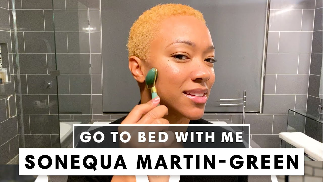 Sonequa Martin-Green's Nighttime Skincare Routine | Go To Bed With Me | Harper's BAZAAR