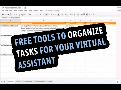 Time Management Tips: Free Tools To Organize and Outsource Tasks For Your Virtual Assistant