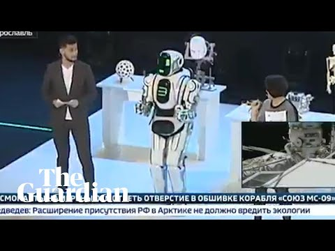Russian state TV shows 'hi-tech robot' later exposed as man dressed in costume