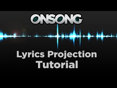 Projecting Lyrics with OnSong