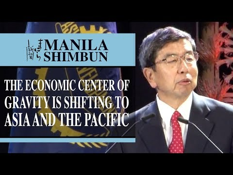 The economic center of gravity is shifting to Asia and the Pacific...