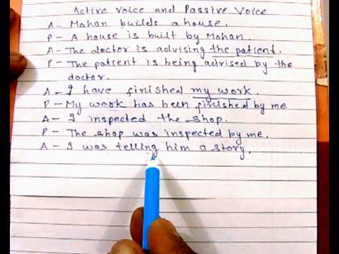 Active voice & Passive voice   English grammar  (SSC CGL ...