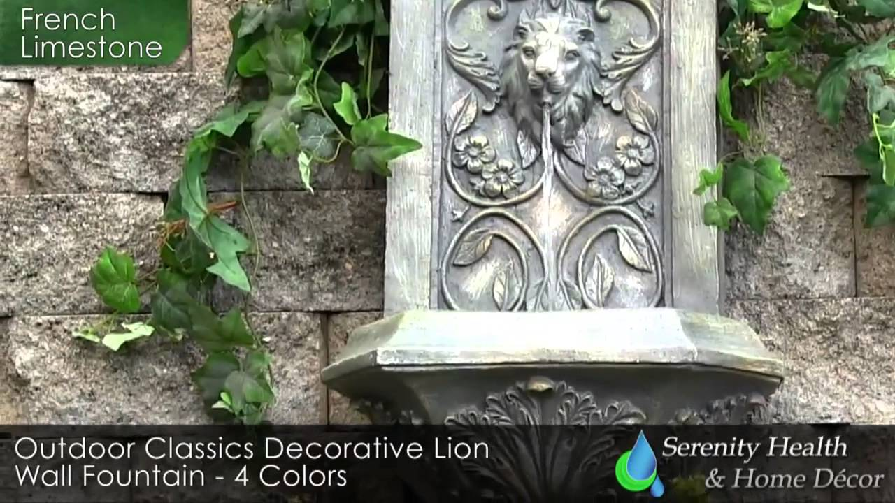 Outdoor Wall Fountain Garden Landscaping Water Features Waterfall Video Demo