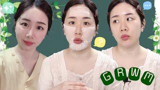 [GRWM] 올리브영 추천템으로 한 음영메이크업 / 서울가기 전 화장하며 수다 떨어요 / natural brown makeup