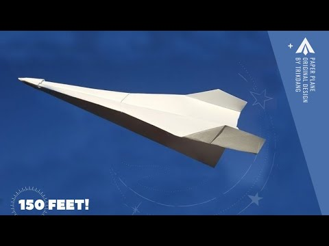 How to make a Paper Airplane that Flies - Long Distance Paper Plane   Arrow Fighter