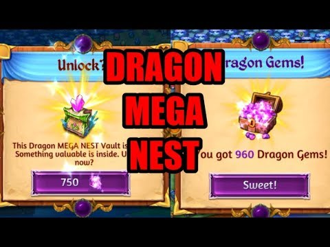 IS IT WORTH Opening a Dragon MEGA NEST Vault for 750 Gems? Merge Dragons