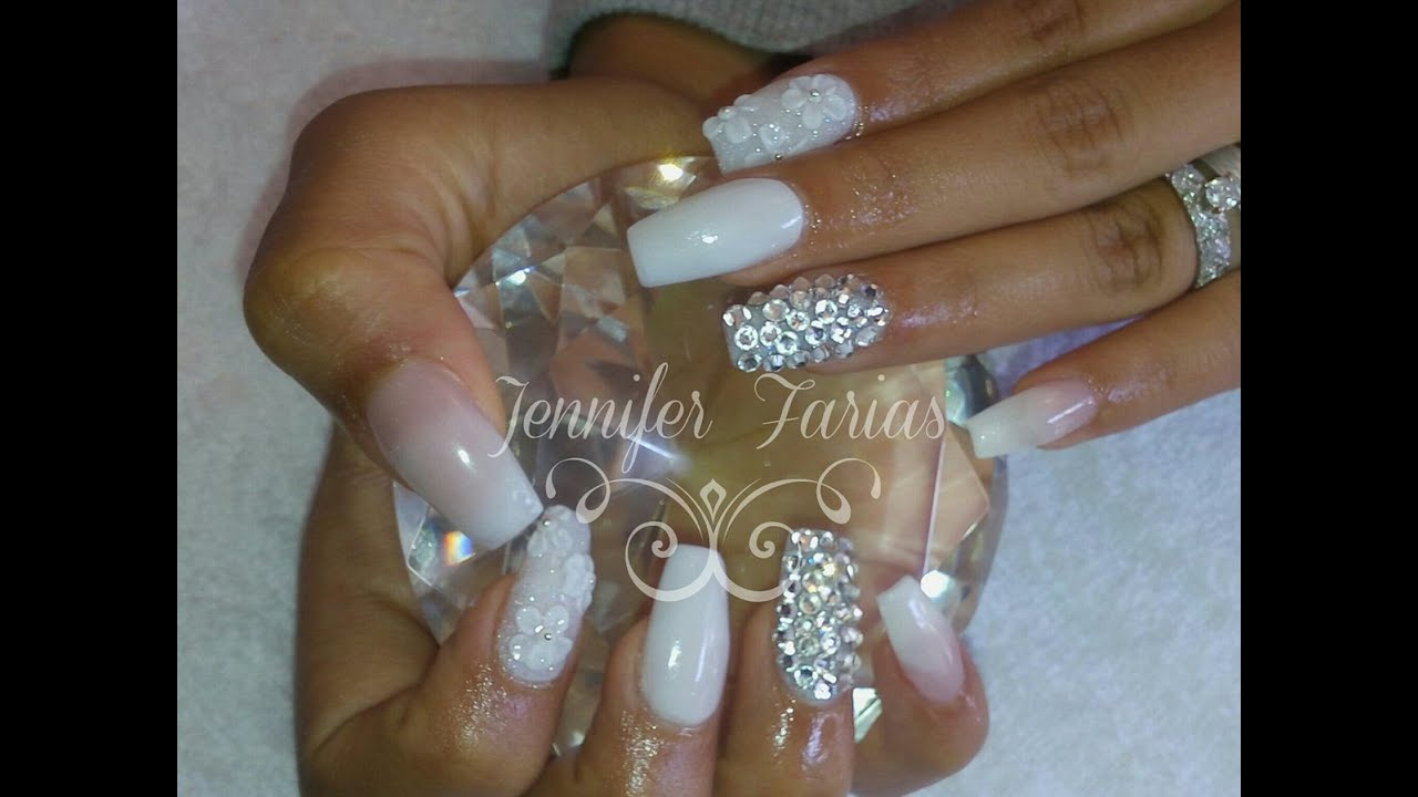 uas acrilicas para novia paso a paso wedding acrylic nails step by step