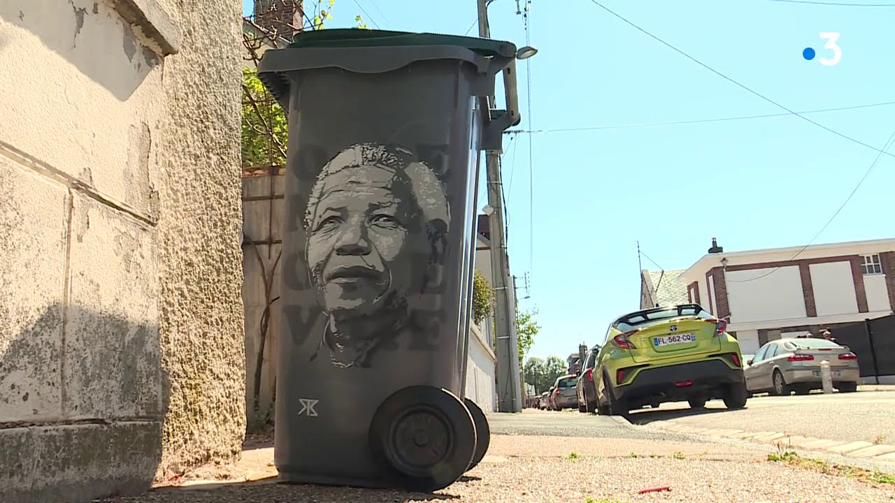 Le street art habille les poubelles de Rouen