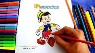 How to draw PINOCCHIO | Cómo dibujar a PINOCHO paso a paso