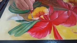 Como Pintar Orquídea em Vidro