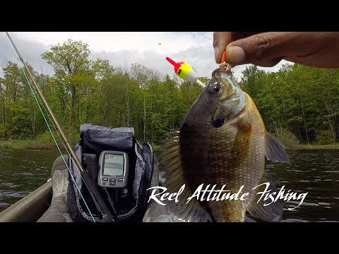 Kayak Fishing on Perch Lake in the Blue Hills in Rusk County Wisconsin