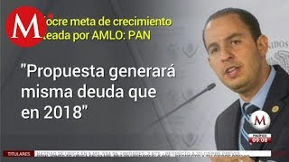 Mediocre meta de crecimiento planteada por AMLO: Marko Cortés