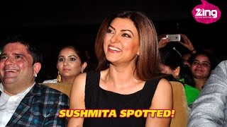 Sushmita Sen Gets Grand Welcome At A School Function
