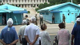 Korean War vets visit border truce village on first time return