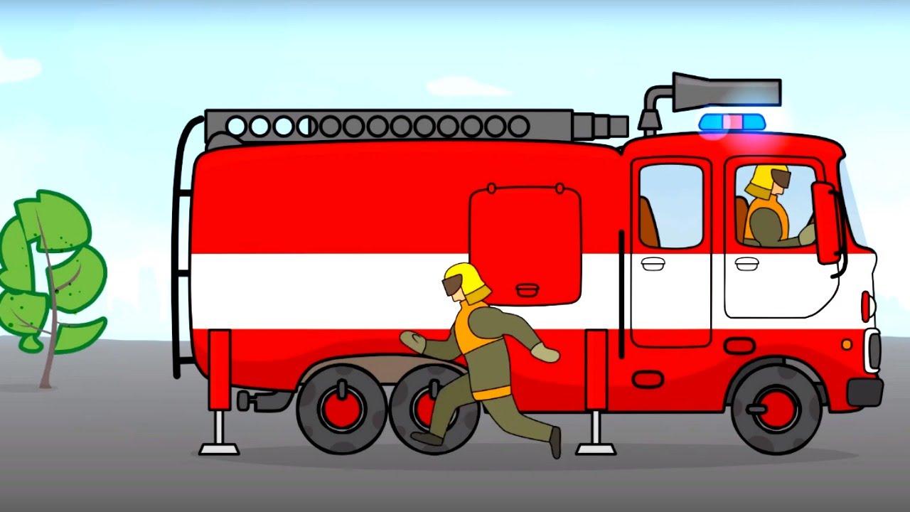 Worksheet. Grandes vehculos para nios pequeos Camin de Bomberos Dibujos