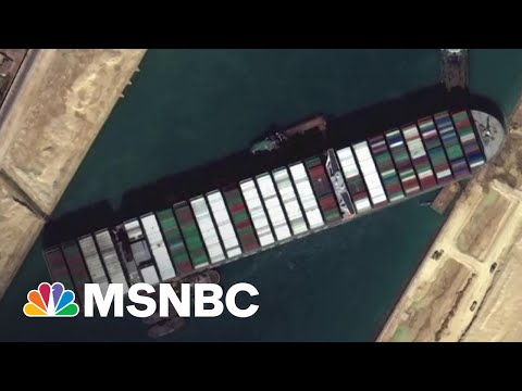 Crews Manage To Move Cargo Ship Stuck in Suez Canal 30 Yards | MSNBC
