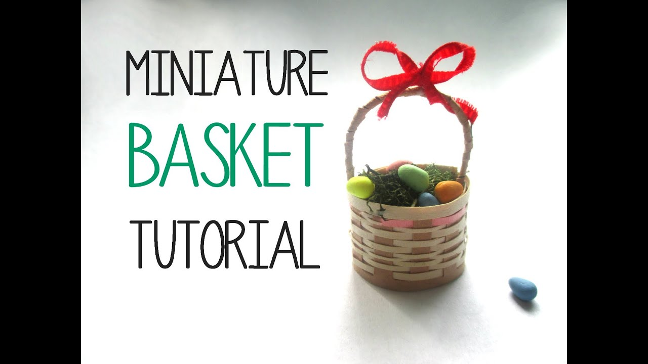 Mini Basket Tutorial (Miniature Mondays) - YouTube