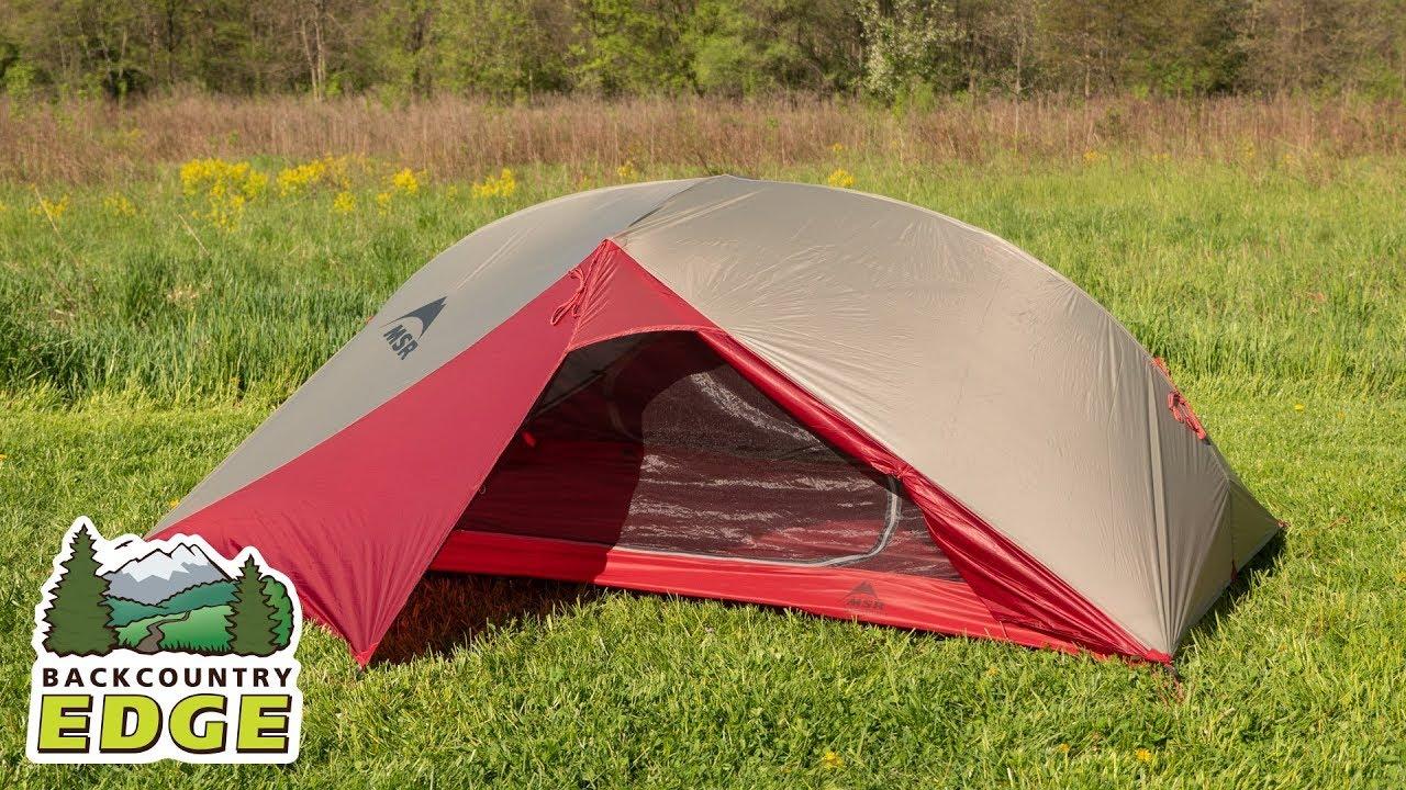 Msr Carbon Reflex 2 3 Season Backpacking Tent Youtube