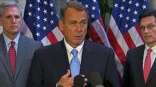 shutdown news boehner there are a lot of opinions