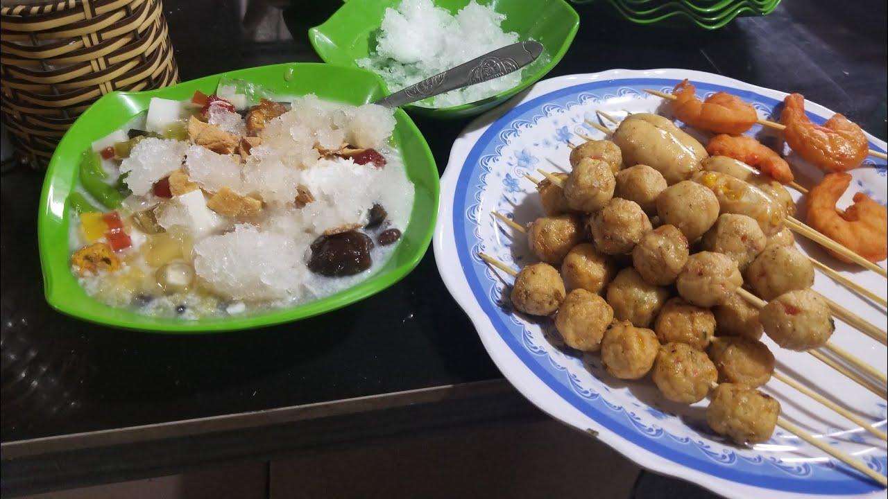 Review Đồ Ăn Vặt   Xúc Xích, Nem Chú Rán, Lạc Sườn, Thịt Xiên   LTG Vlogs #2