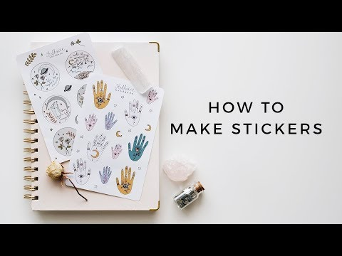 how i make stickers all my tips, tricks, & tools!