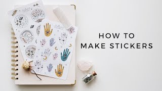 how i make stickers (all my tips, tricks, & tools!)