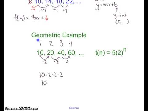 Geometric Sequence - Equation - Youtube