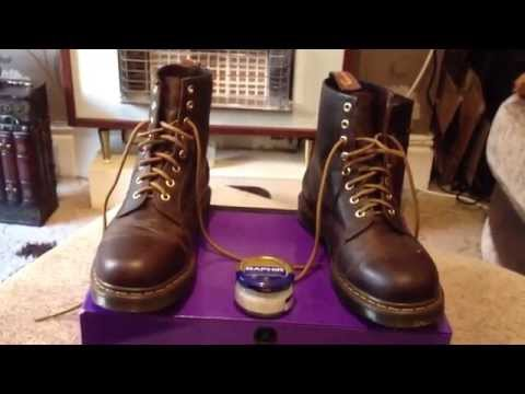 DR MARTENS 1460 AZTEC CRAZY HORSE / FAUX LEATHER CLEANING TIP