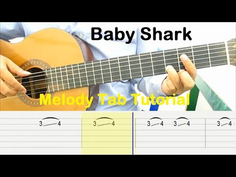 baby-shark-guitar-tutorial-melody-tab---guitar-lessons-for-beginners