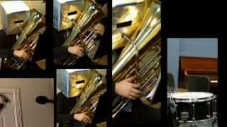Daft Punk Get Lucky Tuba Quartet cover + sheet music