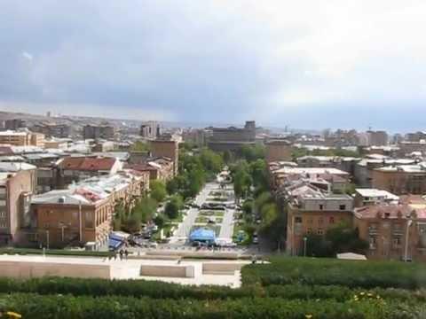 Панорама Еревана с комплекса Каскад