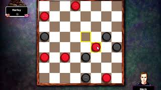 Hoyle Puzzle Games 2008 - Checkers Easy mode against Harley