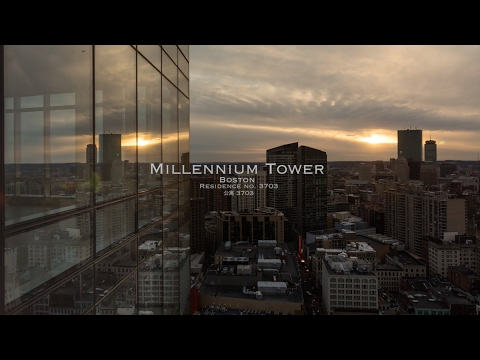 Luxury Apartment Boston - Millennium tower residence 3703 time-lapse [1080p]
