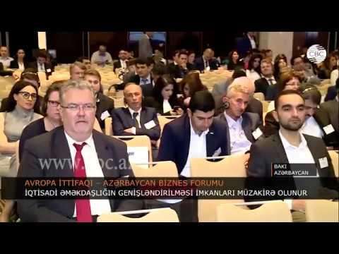 CBC TV Azerbaijan - News on the EU-Azerbaijan Business Forum 2018