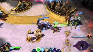 Heroes of the Storm(PTR Gameplay) - Lt. Morales(POV) - Apothecary Skin - Battlefield of Eternity