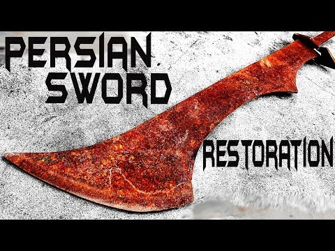 Rusted PERSIAN SWORD - Unbelievable RESTORATION