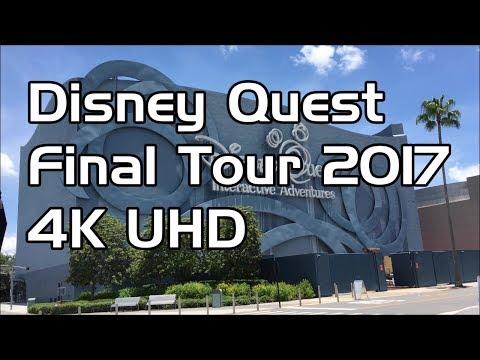 Disney Quest - Final Days 2017  Full Tour in 4K   Walt Disney World