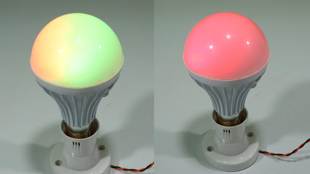 How to make Remote Control RGB LED Bulb 220V AC