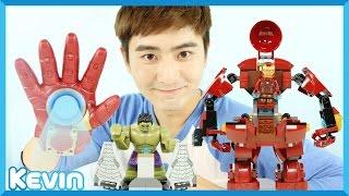 캐빈의 레고 슈퍼히어로즈 어벤져스 피규어 블록 장난감 놀이 | 캐리 앤 플레이