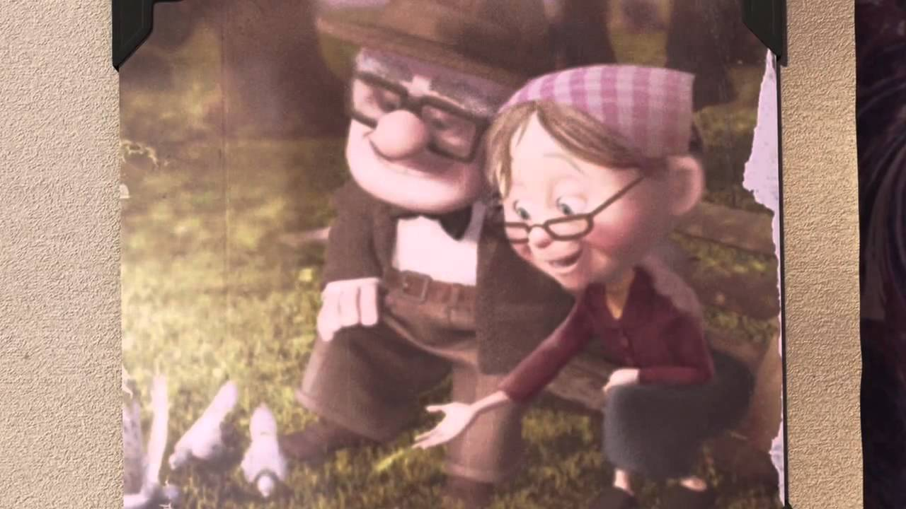 up pixar film carl looks through ellie s scrapbook youtube