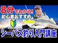 【シーバス釣り入門講座】初心者が最短でシーバスを釣るための方法!オヌマンのシーバス塾