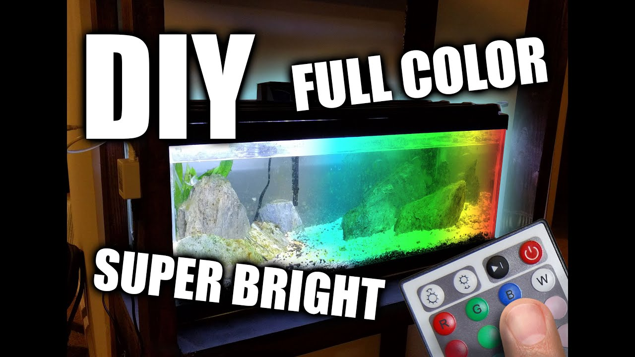 Diy Led Aquarium Grow Light Hood Youtube