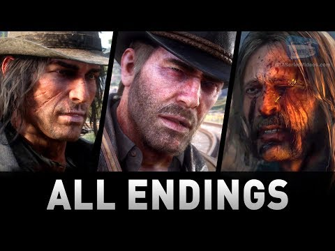Red Dead Redemption 2 - All 4 Endings (Good Honor, Bad Honor)